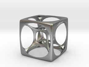 Hyper Cube 3 in Natural Silver