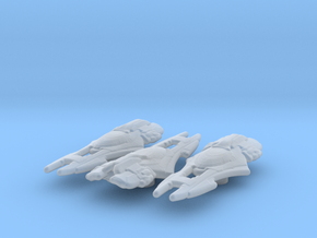 Xindi Primate Ship 1/7000 Attack Wing x3 in Smooth Fine Detail Plastic