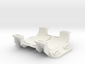Traxxas Bullet 1627 Battery Holder Saddle in White Natural Versatile Plastic
