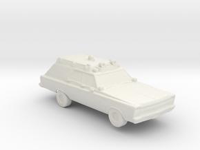 1965 Ambulance 1:160 Scale in White Natural Versatile Plastic
