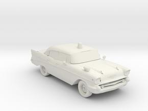 1957 police car 1:160 Scale in White Natural Versatile Plastic