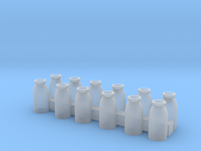 HO Scale Milk Cans in Smooth Fine Detail Plastic