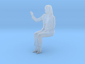 O Scale Sitting Woman in Smoothest Fine Detail Plastic