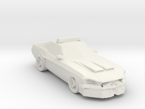 1967 Police car 1:160 Scale in White Natural Versatile Plastic