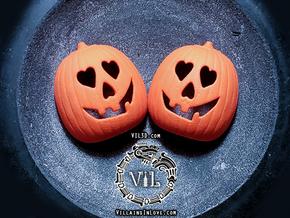 Halloween 2018 HEART Pumpkin Pendant ⛧VIL⛧ in Orange Processed Versatile Plastic