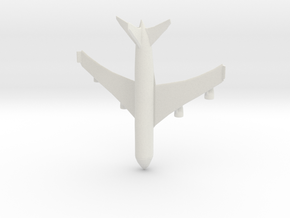 Passenger Plane in White Natural Versatile Plastic