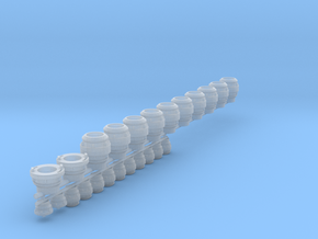 """2.5 & 5"""" storz fittings in Smooth Fine Detail Plastic"""