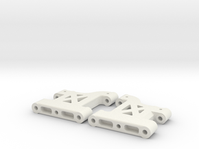MO27-3|TL-01|(32,5mm) Front suspension arms in White Natural Versatile Plastic