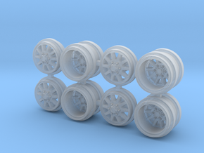 FF09 GL-D Greenlight Dually Driver Wheels in Smoothest Fine Detail Plastic