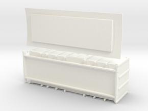 F4 - Swedish luggage wagon in White Processed Versatile Plastic