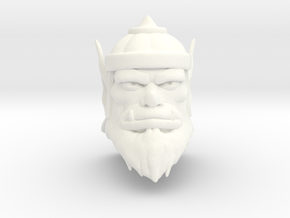 King Ahgo Head in White Processed Versatile Plastic