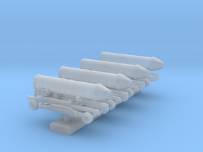 1:200 Scale Jet Engines on Maintenance Carts in Smooth Fine Detail Plastic