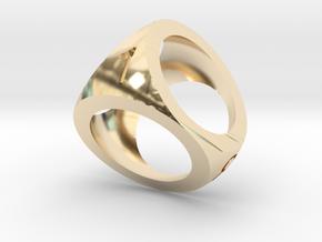 Mini D4 Shell Dice Pendant in 14K Yellow Gold