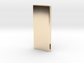SilverBar.V1 in 14k Gold Plated Brass: Small