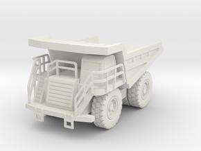 CAT 777F Dump Truck 1/87 in White Natural Versatile Plastic