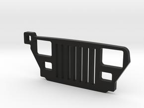 """Jeep Wrangler YJ (1987-1996) REPLICA - dim. 2"""" in Black Natural Versatile Plastic"""