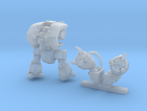 Behemoth Mechsuit in Smooth Fine Detail Plastic: Small