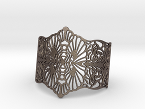 LONO Cuff in Polished Bronzed Silver Steel