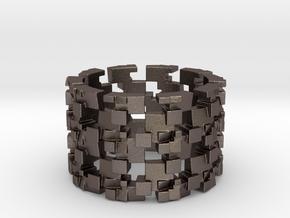 Grinder Ring Size 12 in Polished Bronzed Silver Steel