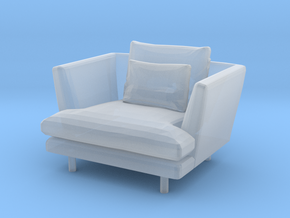 1:24 Armchair in Smooth Fine Detail Plastic: 1:24