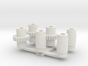NS 7851 stoomloc Liliput in White Natural Versatile Plastic