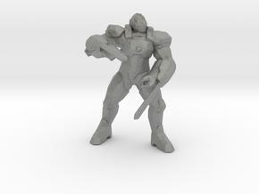 Dimachaerus Gladiator mech 55mm miniature game rpg in Gray PA12