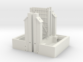 Listowel Lartigue Flying Gate Structure (N Scale) in White Natural Versatile Plastic