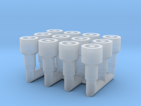 4mm Scale Washout Plugs in Smooth Fine Detail Plastic