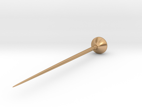 Biconical pin from Skirpenbeck  in Polished Bronze