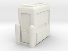 Toll Booth 1/43 in White Natural Versatile Plastic