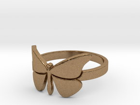 Butterfly (large) Ring Size 9 in Natural Brass