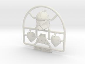 1:12 Trooper Gunner in White Premium Versatile Plastic