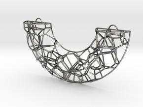 Voronoi arc pendant in Antique Silver