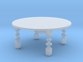 1:18 Coffee Table in Smoothest Fine Detail Plastic