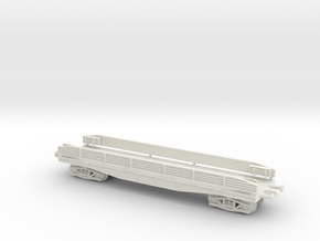 1/144 50 ton Russian Flatcar 1934 in White Natural Versatile Plastic