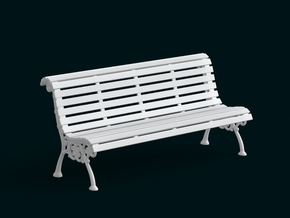 1:10 Scale Model - Bench 02 in White Natural Versatile Plastic
