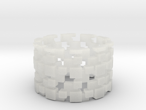 Borg Cube Ring Size 9 in Smooth Fine Detail Plastic