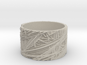 Fibres Ring Size 8 in Natural Sandstone