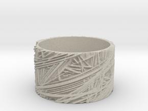 Fibres Ring Size 8 in Natural Sandstone
