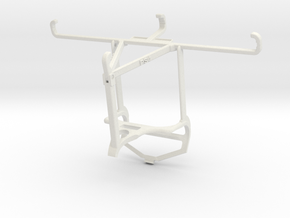 Controller mount for PS4 & Realme C3 - Top in White Natural Versatile Plastic