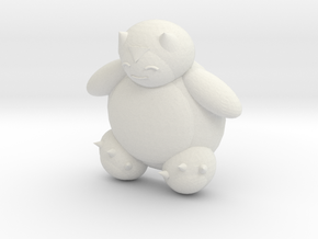 Snorlax (color) in White Natural Versatile Plastic