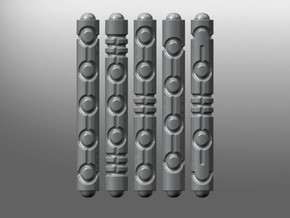 Necrotic Flayer Tubes in Smooth Fine Detail Plastic
