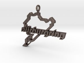 Nurburgring pendant in Polished Bronzed-Silver Steel
