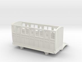 OO9 Skarloey / Talyllyn Narrow Gauge Coach TYPE 3 in White Natural Versatile Plastic