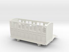 OO9 Skarloey / Talyllyn Narrow Gauge Coach TYPE 4 in White Natural Versatile Plastic