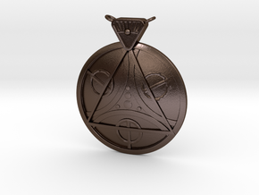 Pendant - Amulet of Julianos in Polished Bronze Steel
