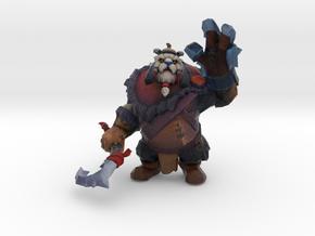 Tusk Waving while Teleporting in Natural Full Color Sandstone