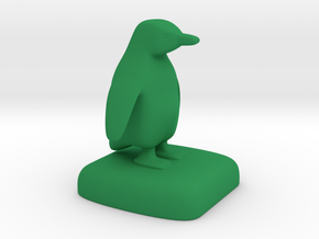 Penguin in Green Processed Versatile Plastic