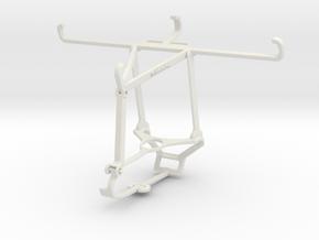 Controller mount for Steam & Realme C3 - Top in White Natural Versatile Plastic