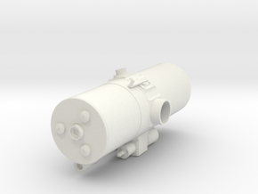 Geodimeter Model 6 - Scope 1/4 scale in White Natural Versatile Plastic
